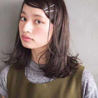 黒髪 ストレート ナチュラル 暗髪 ヘアスタイルや髪型の写真・画像