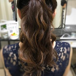 ロング フェミニン ヘアアレンジ 大人可愛い ヘアスタイルや髪型の写真・画像