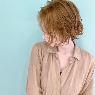 ボブ ショートヘア フェミニン ミニボブ ヘアスタイルや髪型の写真・画像
