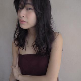 ウェーブ ロング セミロング フェミニン ヘアスタイルや髪型の写真・画像 ヘアスタイルや髪型の写真・画像