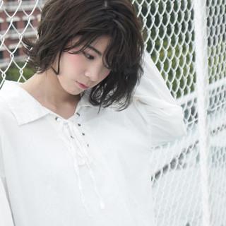 ミディアム アッシュ 暗髪 黒髪 ヘアスタイルや髪型の写真・画像