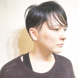 ボーイッシュ マッシュ ナチュラル マニッシュ ヘアスタイルや髪型の写真・画像