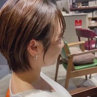小顔ショート ショートヘア ショート 抜け感 ヘアスタイルや髪型の写真・画像