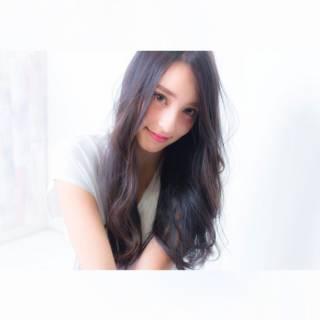 黒髪 外国人風 ロング 暗髪 ヘアスタイルや髪型の写真・画像