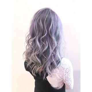 オーロラカラー ブリーチカラー ユニコーンカラー ロング ヘアスタイルや髪型の写真・画像 ヘアスタイルや髪型の写真・画像