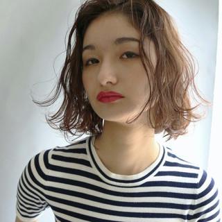 パーマ 大人かわいい ボブ 外国人風 ヘアスタイルや髪型の写真・画像