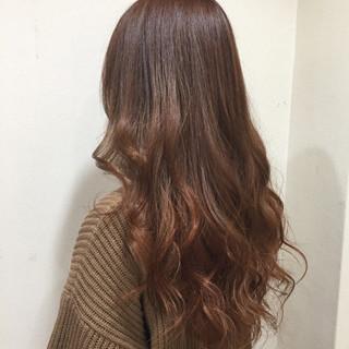 外国人風カラー ストリート ロング オレンジ ヘアスタイルや髪型の写真・画像
