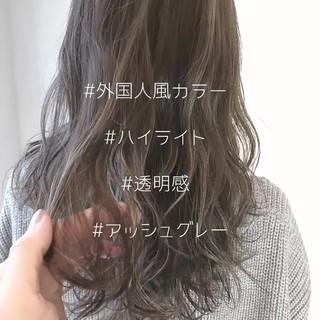 外国人風カラー 外国人風 ハイライト アッシュ ヘアスタイルや髪型の写真・画像 ヘアスタイルや髪型の写真・画像