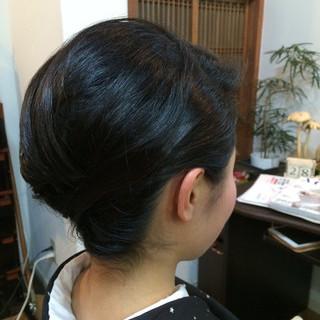 黒髪 まとめ髪 着物 ボブ ヘアスタイルや髪型の写真・画像 ヘアスタイルや髪型の写真・画像