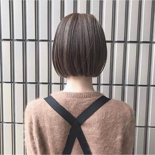 ナチュラル オフィス ミニボブ ショートボブ ヘアスタイルや髪型の写真・画像