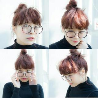 ヘアアレンジ ミディアム お団子 外国人風 ヘアスタイルや髪型の写真・画像 ヘアスタイルや髪型の写真・画像