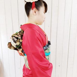 和装 ロング ヘアアレンジ 成人式 ヘアスタイルや髪型の写真・画像