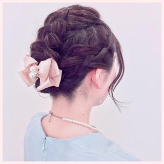 女子力 簡単ヘアアレンジ 結婚式 フェミニン ヘアスタイルや髪型の写真・画像