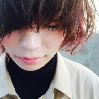 レッド ストリート 冬 かっこいい ヘアスタイルや髪型の写真・画像