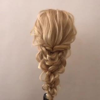 デート セミロング ヘアアレンジ 簡単ヘアアレンジ ヘアスタイルや髪型の写真・画像