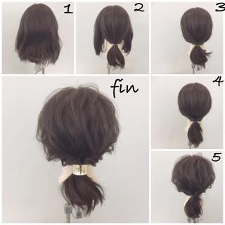 ポニーテール ショート 簡単ヘアアレンジ ヘアアレンジ ヘアスタイルや髪型の写真・画像