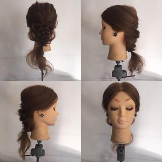 ねじり パーティ フェミニン 結婚式 ヘアスタイルや髪型の写真・画像 ヘアスタイルや髪型の写真・画像
