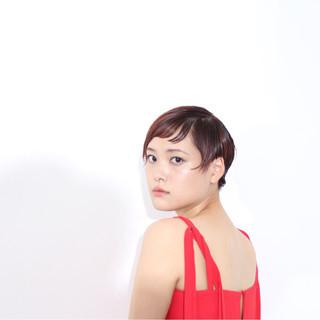 グラデーションカラー ボブ ナチュラル 色気 ヘアスタイルや髪型の写真・画像