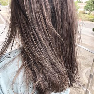 ハイトーン セミロング ブリーチ 外国人風カラー ヘアスタイルや髪型の写真・画像