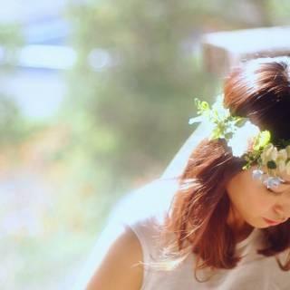 セミロング ヘアアレンジ 振袖 花嫁 ヘアスタイルや髪型の写真・画像