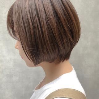 イルミナカラー ボブ 簡単ヘアアレンジ デート ヘアスタイルや髪型の写真・画像
