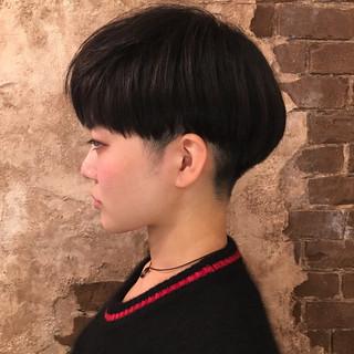 ベリーショート フリンジバング ショート 前髪あり ヘアスタイルや髪型の写真・画像 ヘアスタイルや髪型の写真・画像