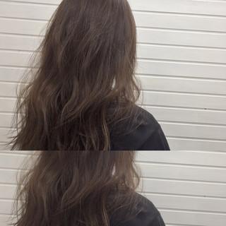 透明感 ダークアッシュ ハイライト 暗髪 ヘアスタイルや髪型の写真・画像