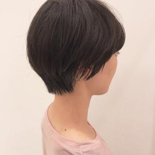 大人カジュアル 大人かわいい ショートヘア ショート ヘアスタイルや髪型の写真・画像