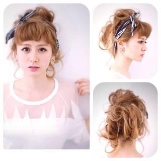 簡単ヘアアレンジ 無造作 コンサバ ショート ヘアスタイルや髪型の写真・画像