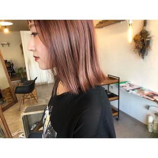 ピンクラベンダー ピンクアッシュ ラベンダーピンク ボブ ヘアスタイルや髪型の写真・画像