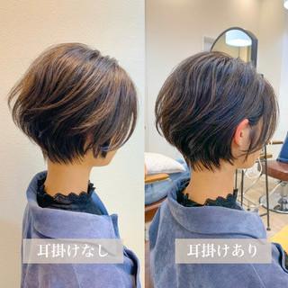ショートヘア ショート スタイリング動画 ミニボブ ヘアスタイルや髪型の写真・画像