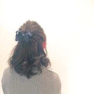 ヘアアレンジ 大人かわいい ショート 簡単ヘアアレンジ ヘアスタイルや髪型の写真・画像