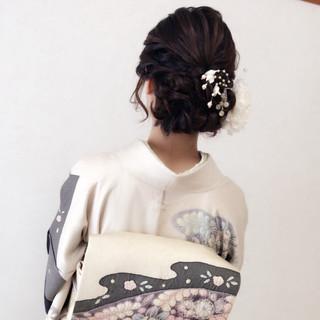 上品 結婚式 デート エレガント ヘアスタイルや髪型の写真・画像 ヘアスタイルや髪型の写真・画像