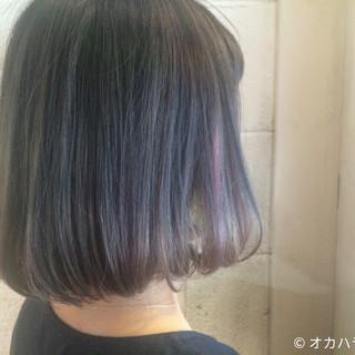 グラデーションカラー ラベンダーアッシュ ストリート アッシュ ヘアスタイルや髪型の写真・画像