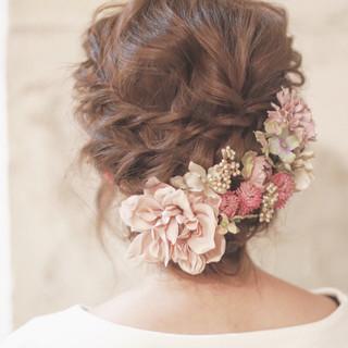 大人かわいい ショート 簡単ヘアアレンジ 結婚式 ヘアスタイルや髪型の写真・画像 ヘアスタイルや髪型の写真・画像