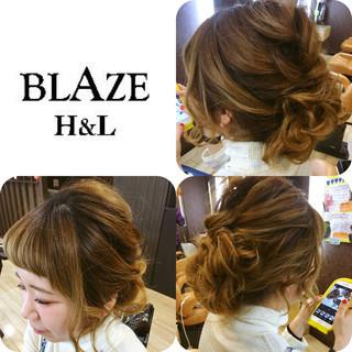 前髪あり ゆるふわ ハイライト ヘアアレンジ ヘアスタイルや髪型の写真・画像