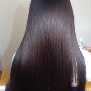 ガーリー ロング 黒髪 フェミニン ヘアスタイルや髪型の写真・画像