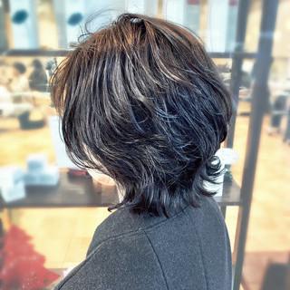 ナチュラル ゆるふわパーマ 美シルエット レイヤーカット ヘアスタイルや髪型の写真・画像