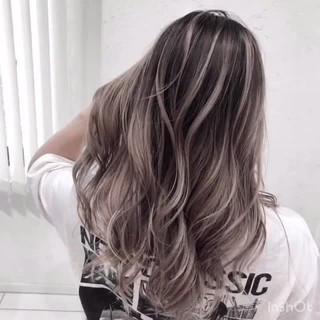 ロング 外国人風カラー ストリート ハイライト ヘアスタイルや髪型の写真・画像