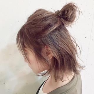 ヘアアレンジ ショート 簡単ヘアアレンジ ボブ ヘアスタイルや髪型の写真・画像