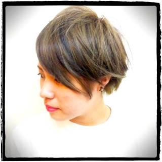 ストリート ショート ナチュラル 黒髪 ヘアスタイルや髪型の写真・画像 ヘアスタイルや髪型の写真・画像