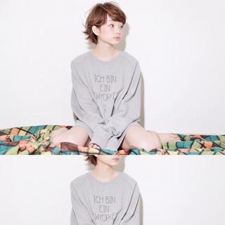 フェミニン ショート ガーリー ピュア ヘアスタイルや髪型の写真・画像