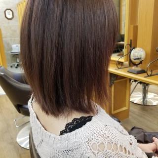 オフィス レッド 艶髪 ピンク ヘアスタイルや髪型の写真・画像