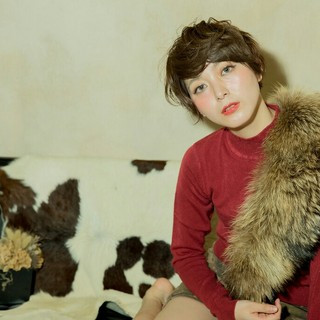 小顔 ショート 大人かわいい 外国人風 ヘアスタイルや髪型の写真・画像