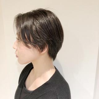 インナーカラー ショート ミニボブ ナチュラル ヘアスタイルや髪型の写真・画像