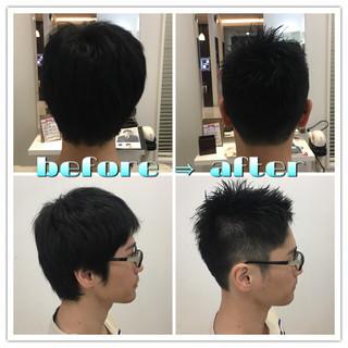 暗髪 ストリート 黒髪 ショート ヘアスタイルや髪型の写真・画像