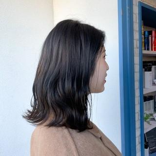 リアルサロン ヘアカラー 透明感カラー ナチュラル ヘアスタイルや髪型の写真・画像
