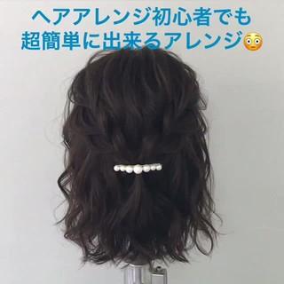 デート ナチュラル 簡単ヘアアレンジ ヘアアレンジ ヘアスタイルや髪型の写真・画像 ヘアスタイルや髪型の写真・画像