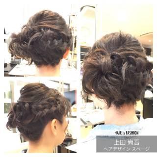 サイドアップ ボブ 編み込み 大人かわいい ヘアスタイルや髪型の写真・画像 ヘアスタイルや髪型の写真・画像