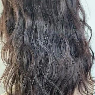 ベージュ ナチュラル 透明感カラー セミロング ヘアスタイルや髪型の写真・画像